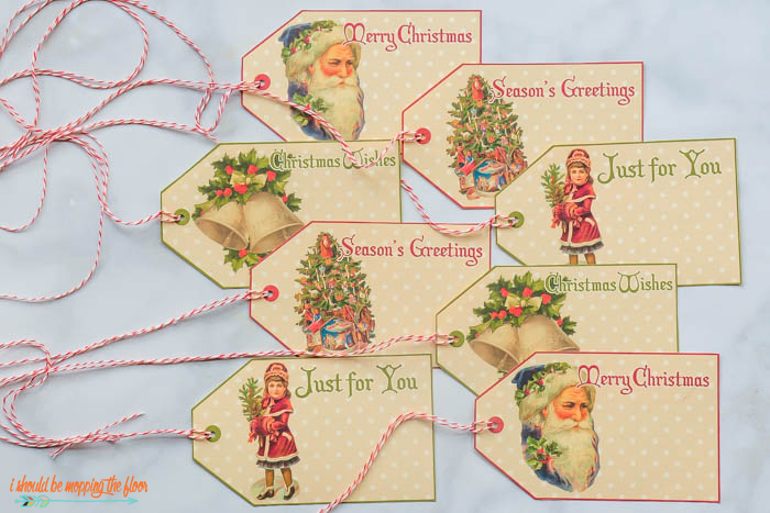 Free Vintage Christmas Printable Gift Tags
