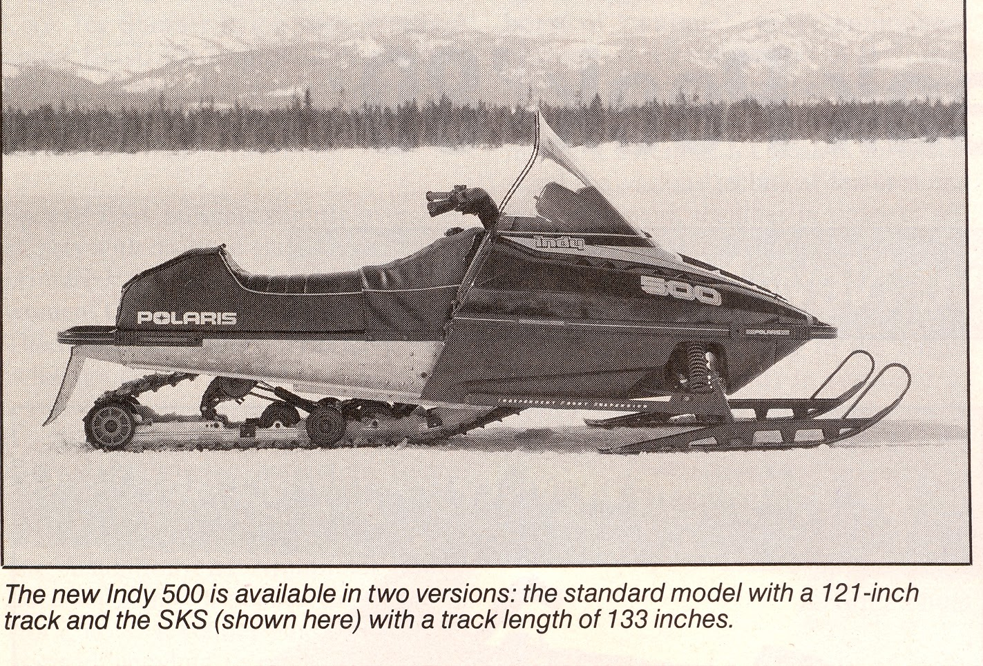 CLASSIC SNOWMOBILES OF THE PAST: 1989 POLARIS INDY 500