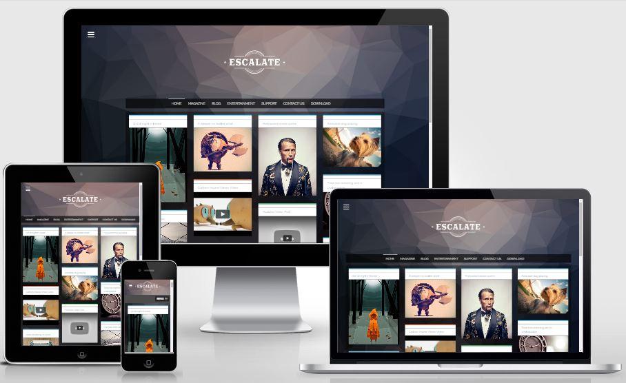 Escalate Responsive Blogger Template - Template chia sẻ hình ảnh đẹp