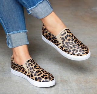Animal Print Slip-On Sneakers- $21.99