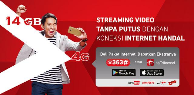 Paket 4G 14GB Cuma Rp. 65.000, Telkomsel Murah