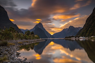 Milford Sound, Sunset, Mitre Peak, Laurie Winter