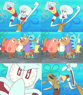 Polosan meme spongebob dan patrick 69 - squidward demo buruh