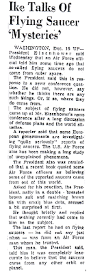 Ike Talks of Flying Saucer Mysteries – The Herald (Brownsville, Texas) 12-16-1954