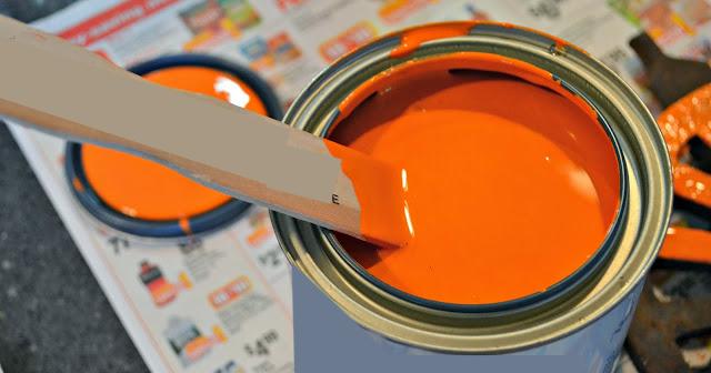 orange chalk paint
