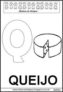 Alfabeto cartaz letra Q