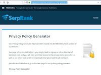 Cara Membuat Halaman Privacy Policy Generator Untuk Google Adsense