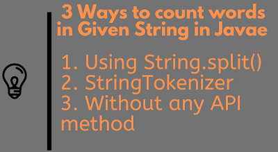 3 ways to Count words in Java String - Google Interview Questions