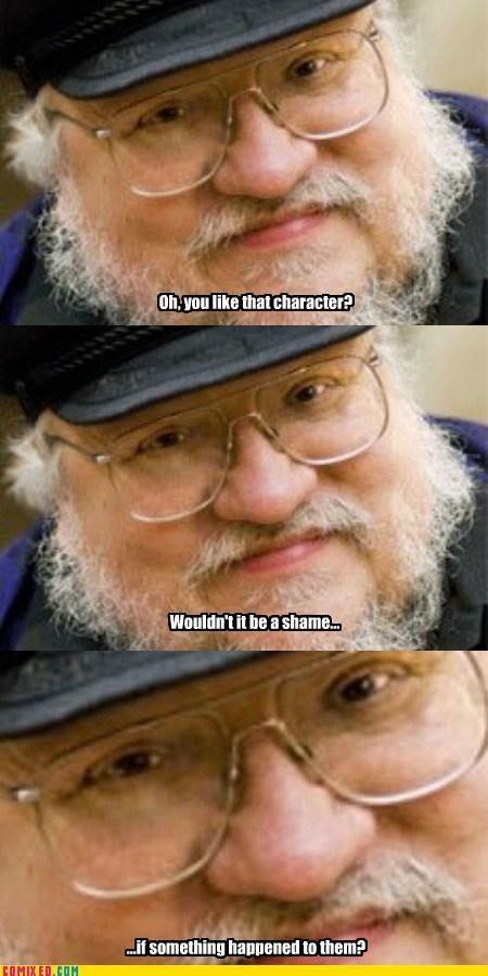 Meme de humor sobre el escritor de Juego de tronos