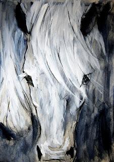 contemporary equestrian art, abstract equine artist, fine art horse painting, www.mathersart.com