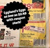 49¢ Dozen Eggland's Best Eggs at Tops Friendly Markets with stacked coupons