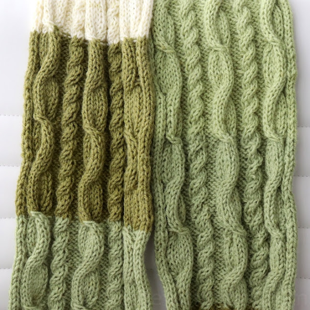 cable stitch knit scarf