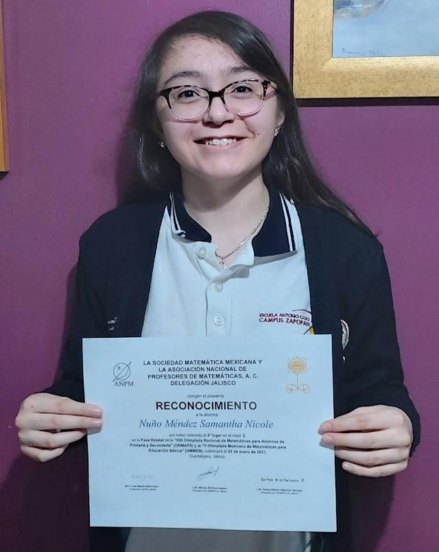 Alumna de la UAG destaca  en Olimpiada de Matemáticas