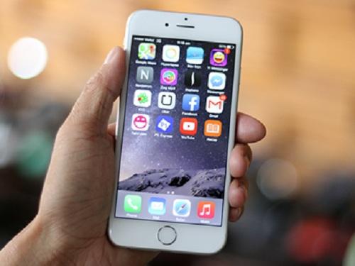 Iphone 6s sau khi đã được thay mặt kính