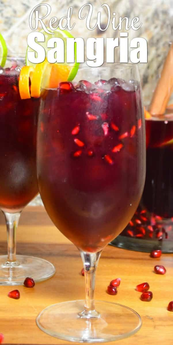 Red Wine Sangria is a favorite holiday cocktail with Pomegranate juice, Merlot, White Rum, Ginger Beer and Citrus. It's a favorite Christmas Sangria recipe from Serena Bakes Simply From Scratch.