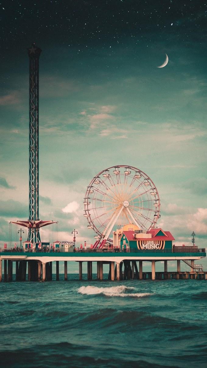 Roda-gigante, Parque de Diversões, Mar