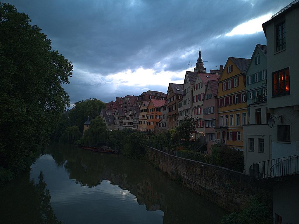 Huawai P20 –  Neckarfront Tübingen kurz vor Sonnenuntergang