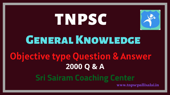 General Knowledge Objective type Question and Answer
