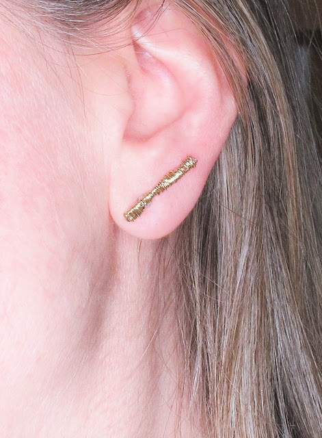 14k gold artist wire, unusual earrings