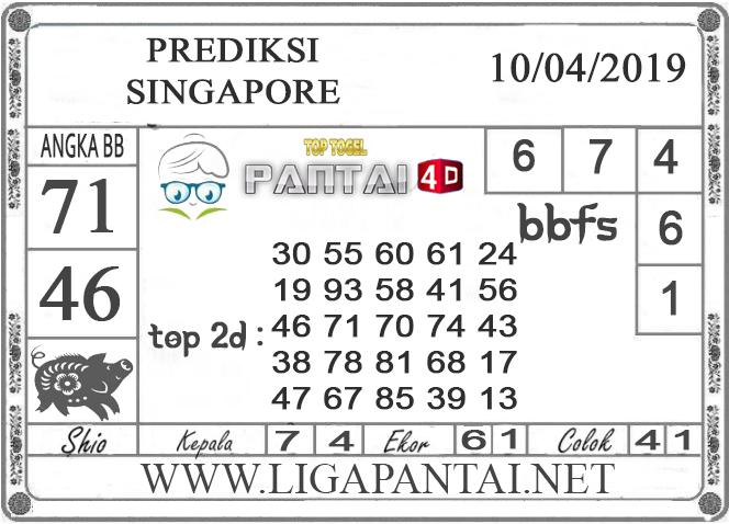 """Prediksi Togel """"SINGAPORE"""" PANTAI4D 10 APRIL 2019"""