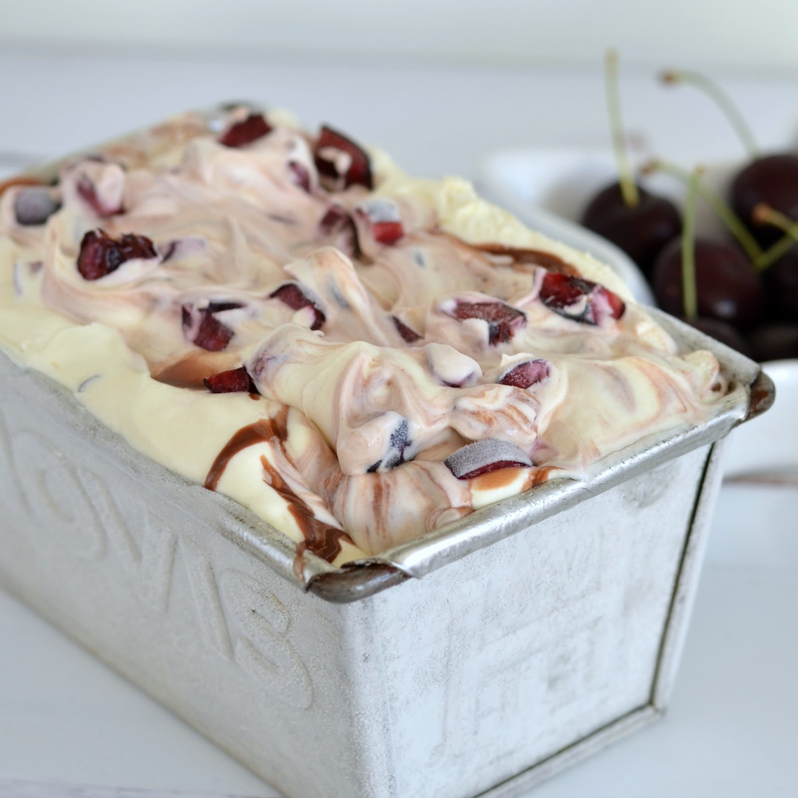 Cherry Chocolate No Churn Ice Cream