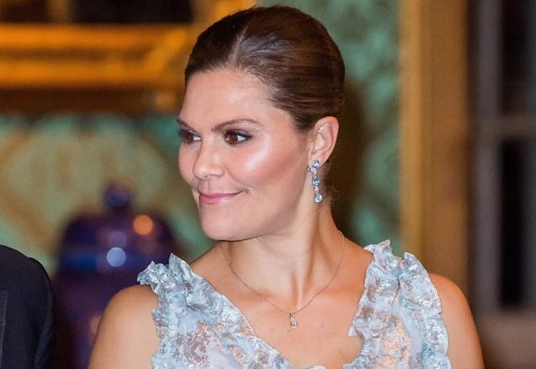 Crown Princess Victoria wore HM dress diamond earrings