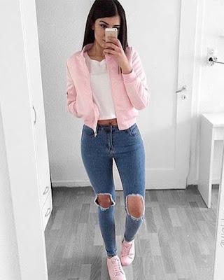 outfit urbano casual rosado