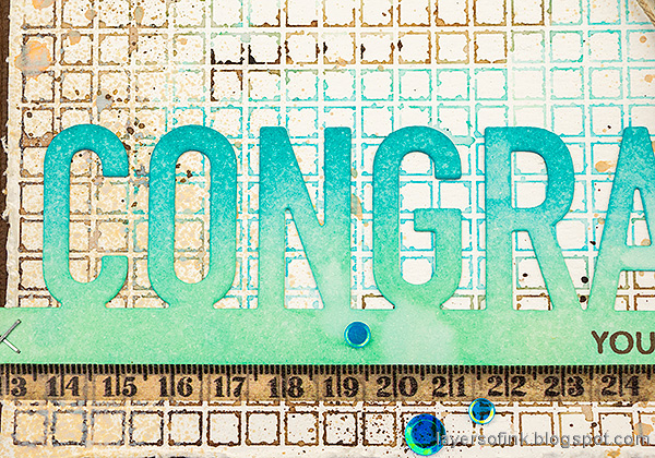 Layers of ink - Simon Says Stamp Born To Sparkle Blog Hop Congrats Card by Anna-Karin Evaldsson.