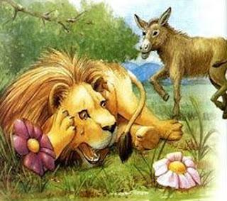fabula con moraleja el leon envejecido