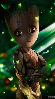 Baby Groot Mobile HD Wallpaper