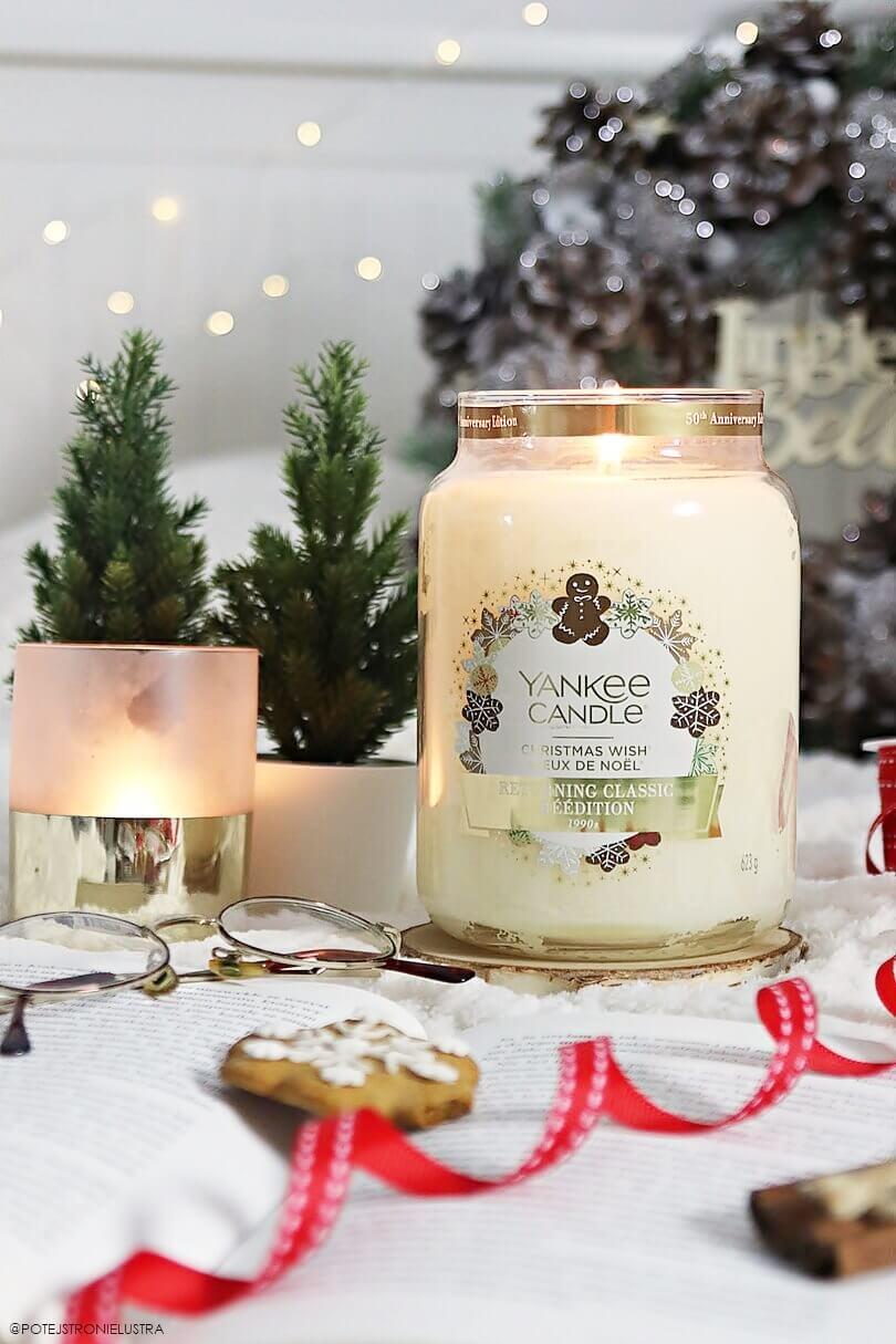 yankee candle christmas wish duża świeca z limitowanej kolekcji jubileuszowej 50th anniversary