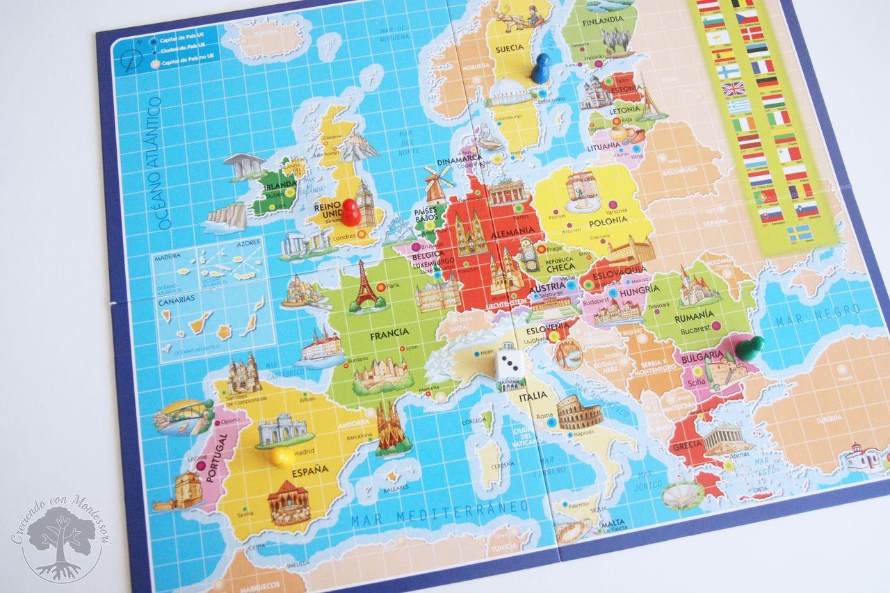 3 Partes EuropaTarjetas Juegos Y De España Mesa Conocer EID9H2