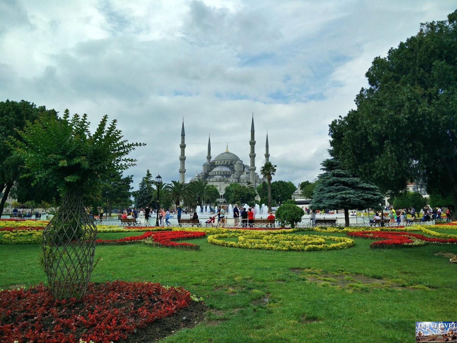 Turquie Istanbul la grande mosquée bleue sultan Ahmet