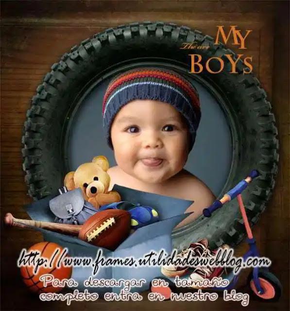My Boys, hermosa plantilla para albumes de fotos infantiles