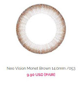 http://www.queencontacts.com/product/Neo-Vision-Monet-Brown-14.0mm-053/5538