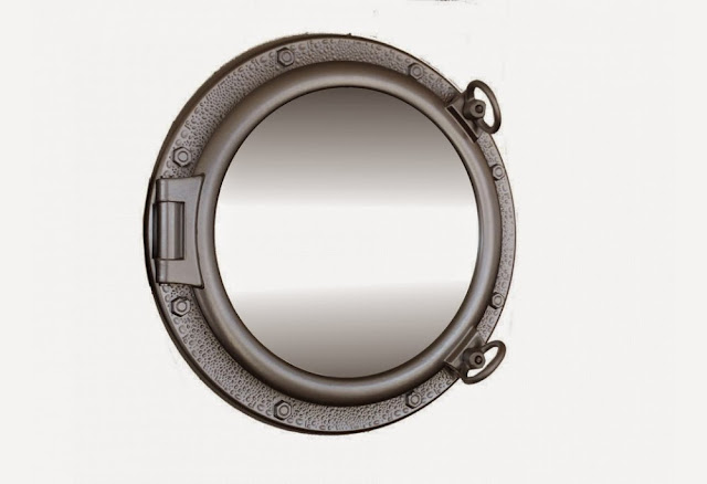 Silver Finish Porthole Mirror