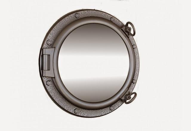 Silver Finish Porthole Mirror
