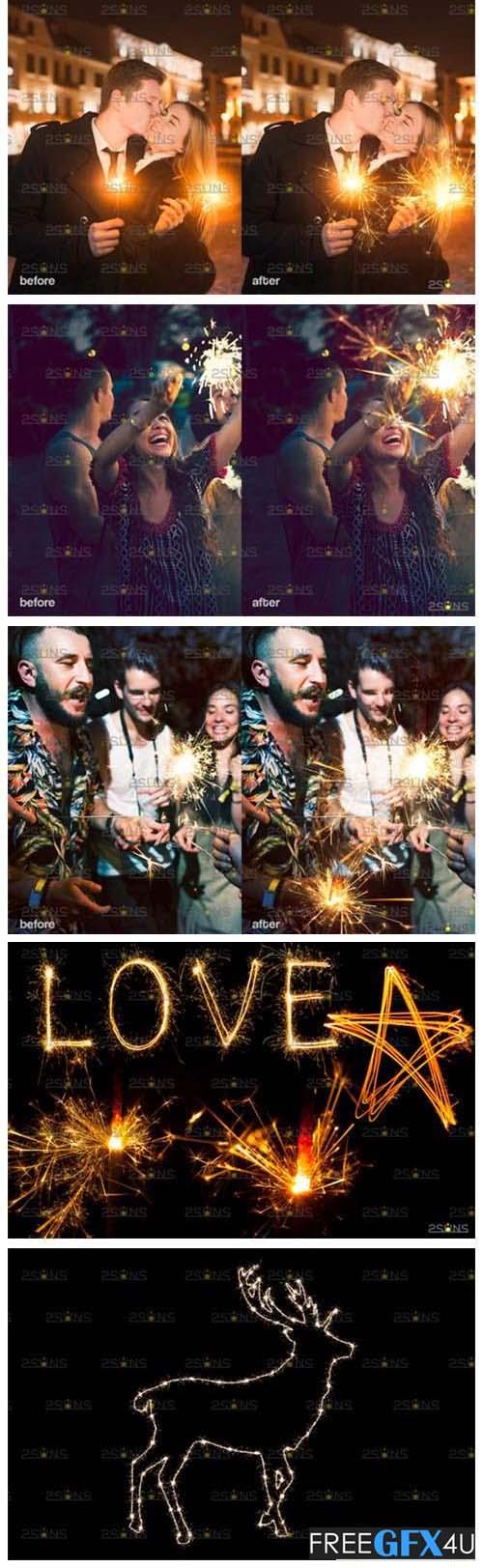 Wedding Sparkler Photo Overlay Pack