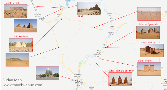 Tourist map with sights to see