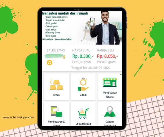 Aplikasi Pegadaian Digital adalah aplikasi yang memudahkan nasabah untuk menabung emas