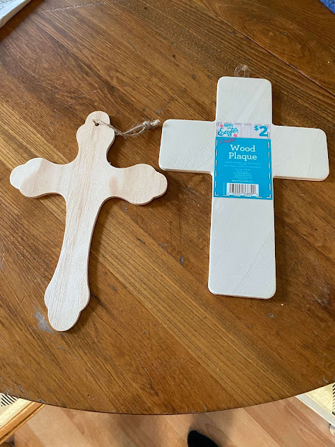Photo of wooden unfinished Crosses