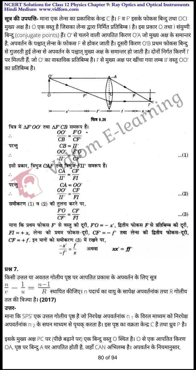 class 12 physics chapter 9 light hindi medium 80