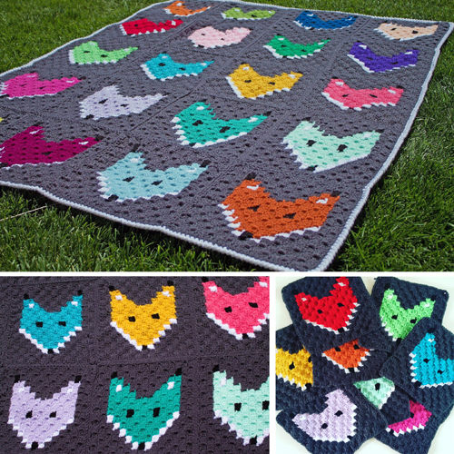 C2C Fox Block Blanket - Free Pattern