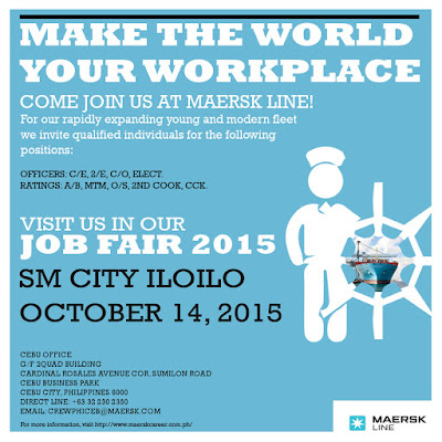 Maersk Job Fair 2015 Goes To SM City Iloilo On October 14, 2015