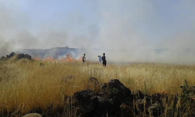 إخماد عددا من الحرائق بعضها بين منازل المواطنين بالسويداء.