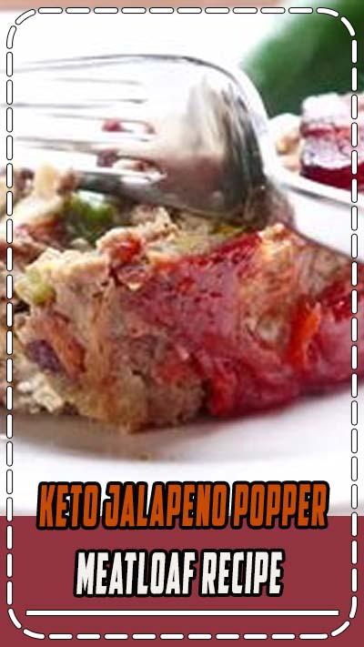 Easy Keto Jalapeno Popper Meatloaf recipe that is loaded with flavor! #keto #ketorecipes #meatloaf #jalapenopopper #jalapenopoppermeatloaf #easyrecipes #ketorecipes #ketodiet #ketogenicdiet #lowcarb #recipes #mealprep