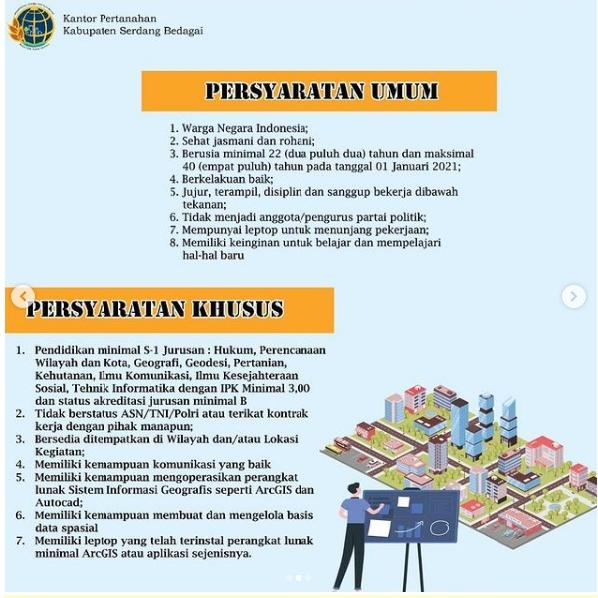 Lowongan Kerja Kantor Pertanahan BPN Bulan Februari 2021