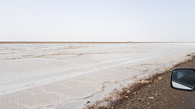 Salty desert in Danakil