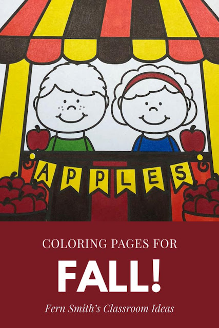 Updated Fall Coloring Pages for Home and School at TeachersPayTeachers.Terrific for a daily coloring page OR have a parent volunteer bind them into a FALL COLORING BOOK for your students. Your students will ADORE these coloring pages because of the cute, cute, cute Fall Themed graphics! Your students can also draw in any Fall background and write about their coloring book page on the back. Use these coloring pages for all sorts of jumping off points for older students to use during their Fall creative writing lessons! Add it to your plans to compliment any Fall Unit! Download these 106 Coloring Book Pages TOTAL for some INSTANT Fall Coloring Joy in your home or classroom!