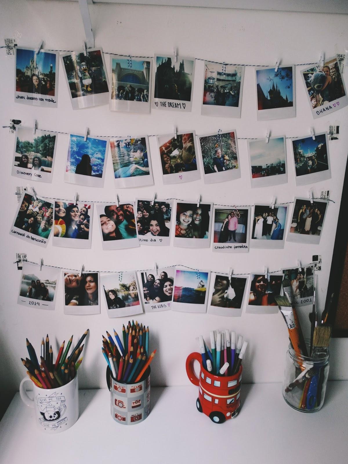 D i y mural de fotos polaroid sem ter a c mera - Mural de fotos ...